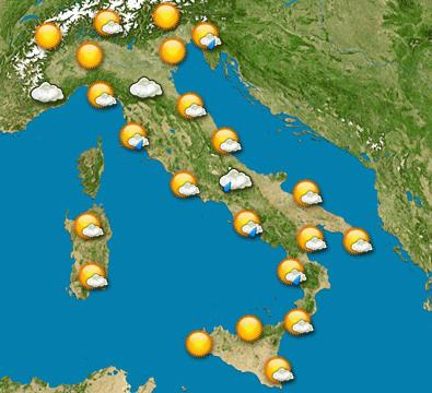 Previsioni meteo 4-9 Aprile 2017
