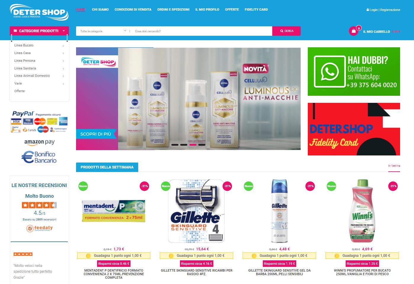 prodotti detergenti corpo